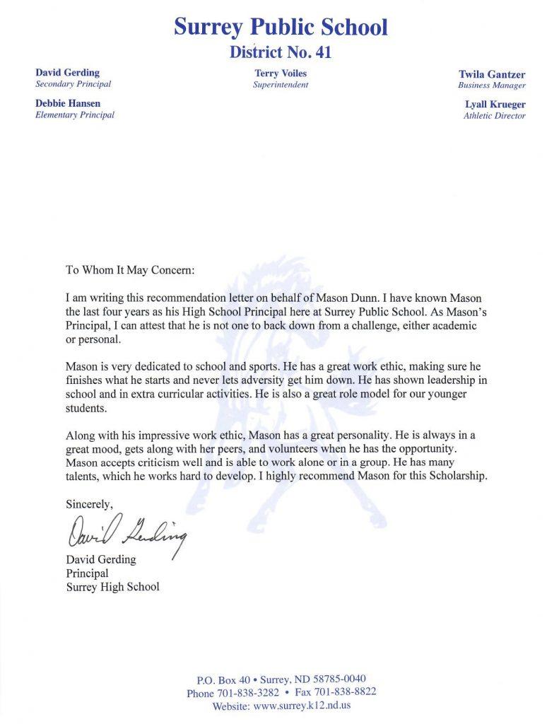recommendation letter principal 1